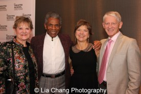 Honoree André De Shields with Theatre School Faculty Nan Cibula-Jenkins and Nan Zabriskie, and Laurie Bloom at the 27th Annual Awards for Excellence in the Arts Gala held in the Atlantic Ballroom of the Radisson Blue Aqua Hotel in Chicago on November 9, 2015. Photo by Lia Chang