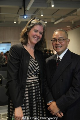 Christa Blatchford, Joan Mitchell Foundation CEO and Arlan Huang. Photo by Lia Chang