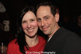 Teresa Sanpietro, General Manager of Bucks County Playhouse and Garth Kravits at the holiday party at the Raven in New Hope, PA on December 16, 2015. Photo by Lia Chang