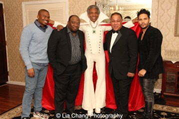 "Chaz Shepherd, James ""Biscuit"" Rouse, André De Shields, David Alan Bunn and Steven ""Styles"" Rodriguez. Photo by Lia Chang"