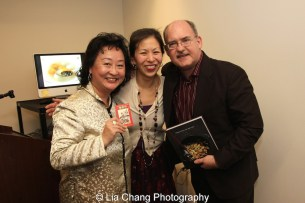 Ken Smith, Nancy Yao Maasbach, MOCA's President/Director and Joanna C. Lee at the Museum of the Chinese in America on January 30, 2016. Photo by Lia Chang