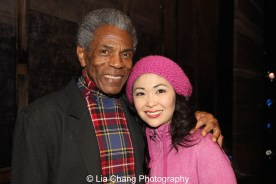 André De Shields and Janelle Dote at the Longacre Theatre in New York on February 13, 2016. Photo by Lia Chang