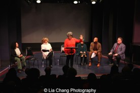 Julia Lema, Leslie Dockery, Tina Fabrique, Micki Grant, Erich McMillan McCall and James Morgan. Photo by Lia Chang