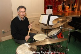 Drummer Charles Descarfino at the P.S. 87 Pan Asian Lunar New Year Celebration at the William T Sherman School in New York on January 29, 2016. Photo by Lia Chan