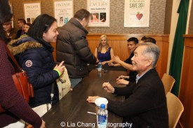 George Takei signs the ALLEGIANCE Original Cast Recording at Barnes and Noble in New York on February 5, 2016. Photo by Lia Chang