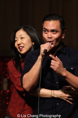 Lainie Sakakura and Jose Llana at the P.S. 87 Pan Asian Lunar New Year Celebration at the William T Sherman School in New York on January 29, 2016. Photo by Lia Chang