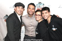 Marcus Choi, Bobby Pestka, Lea Salonga and Telly Leung. Photo by Lia Chang