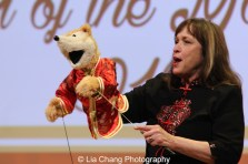 Sesame Street's puppeteers Pam Arcerio at the Metropolitan Museum of Art's annual Lunar New Year festival on February 6, 2016 in New York. Photo by Lia Chang