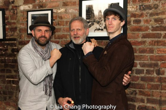 Lucas Caleb Rooney, fight choreographer Thomas Schall and Alex Breaux. Photo by Lia Chang