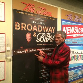 André De Shields visits BROADWAY AND THE BARD at The Lion in New York. Photo by Lia Chang
