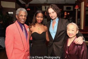 André De Shields, Shereese Mullings, Constantine Maroulis and Lori Tan Chinn. Photo by Lia Chang