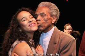 Darilyn Castillo and André De Shields. Photo by Lia Chang
