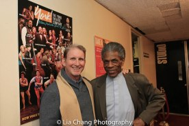 Evans Haile, York Interim Executive Director and André De Shields. Photo by Lia Chang