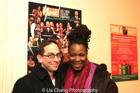 THE DROWSY CHAPERONE reunion for Garth Kravits and Kecia Lewis. Photo by Lia Chang