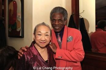 Lori Tan Chinn and André De Shields. Photo by Lia Chang