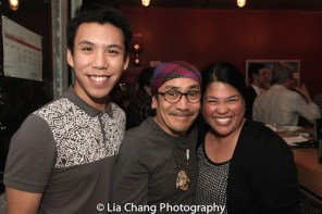 Sean Tecson, Jojo Gonzalez and Suzette Porte. Photo by Lia Chang