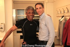 André De Shields and Robert Sella shared a dressing room on the 3rd Floor of New York City Center. Photo by Lia Chang