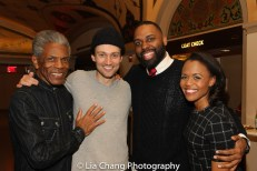 André De Shields, Bryce Pinkham, Nicholas Ward and Nikki Renée Daniels. Photo by Lia Chang