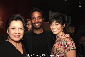 Mia Katigbak, Andre Holland and Tiffany Villarin. Photo by Lia Chang