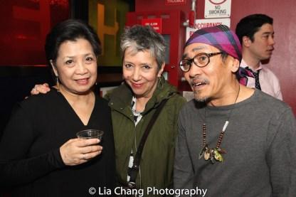 Mia Katigbak, Jessica Hagedorn and Jojo Gonzalez. Photo by Lia Chang