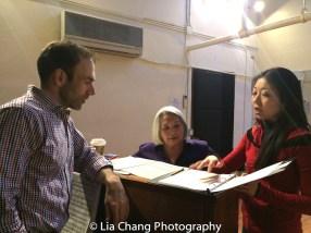 Thomas Conroy, Virginia Wing and director Lainie Sakakura. Photo by Lia Chang