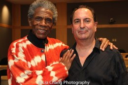 """André De Shields and Larry Spivack at the """"Celebrate Rwanda"""" event at The SUNY Global Center in New York on June 29, 2016. Photo by Lia Chang"""