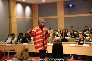 """André De Shields performs at the """"Celebrate Rwanda"""" event at The SUNY Global Center in New York on June 29, 2016. Photo by Lia Chang"""