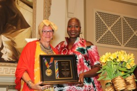 BTN President kb saine presented Marcia Pendleton with the 2016 Winona Lee Fletcher Award at BTN's 30th Anniversary Bruncheon at the Palmer House Hilton in Chicago on August 9, 2016. Photo by Lia Chang