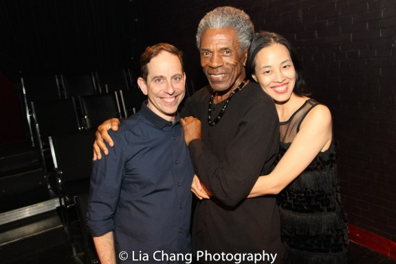 Garth Kravits, André De Shields and Lia Chang. Photo by Billy Bustamante