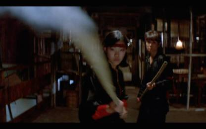 Lia Chang as a Wing Kong Guard in BIG TROUBLE IN LITTLE CHINA.