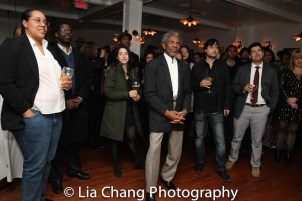 André De Shields (center) at the opening night celebration at Atelier Florian. Photo by Lia Chang