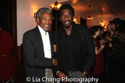 André De Shields and James Udom at the opening night celebration at Atelier Florian. Photo by Lia Chang