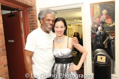 André De Shields and Lia Chang backstage at Yale Rep. Photo by Garth Kravits