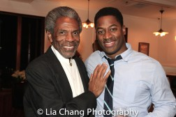 André De Shields and Wayne T. Carr at the opening night celebration at Atelier Florian. Photo by Lia Chang