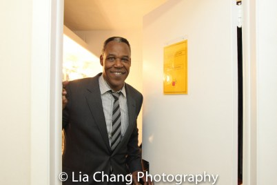 Danny Johnson backstage at Yale Rep. Photo by Lia Chang