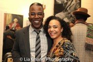 Danny Johnson and Rachel Leslie backstage at Yale Rep. Photo by Lia Chang