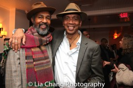 Dion Graham and Timothy Douglas at the opening night celebration at Atelier Florian. Photo by Lia Chang