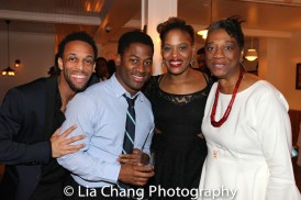 Jamal Story, Wayne T. Carr, Antoinette Crowe-Legacy and Stephanie Bery at the opening night celebration at Atelier Florian. Photo by Lia Chang
