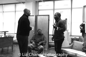 Director Ruben Santiago-Hudson, Anthony Chisholm and Michael Potts. Photo by Lia Chang