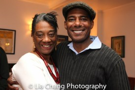 Stephanie Berry and Billy Eugene Jones at the opening night celebration at Atelier Florian. Photo by Lia Chang