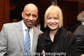 Ruben Santiago-Hudson with his wife Jeannie Brittan. Photo by Lia Chang