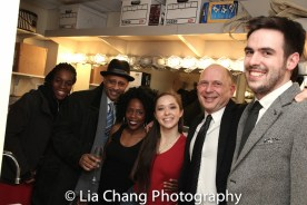 Awoye Timpo, Ruben Santiago-Hudson, Ayisha Hunt, Laura Wilson, James Latus. Photo by Lia Chang