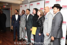 André Holland, Michael Potts, John Legend, Azula Carmen Wilson, Constanza Romero, Ruben Santiago-Hudson and Brandon Dirden. Photo by Lia Chang