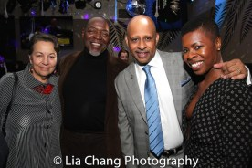 Deborah Brevoort, Chuck Cooper, Ruben Santiago-Hudson and Roslyn Ruff. Photo by Lia Chang