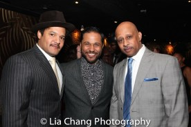 Brandon J. Dirden, Jason Dirden and Ruben Santiago-Hudson. Photo by Lia Chang