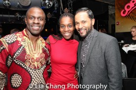 Gbenga Akinnagbe, Awoye Timpo and Jason Dirden. Photo by Lia Chang