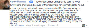 Nancy Life In Alignment Facebook Testimonial