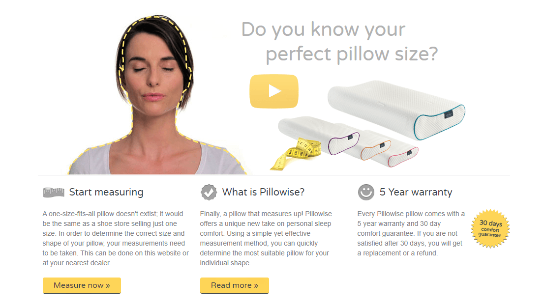 Should I get measured for proper pillow size?
