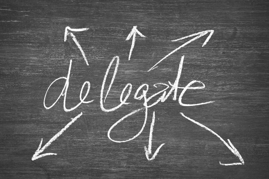 delegate to avoid stress