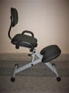 Some people use a kneeling chair to help with low back pain
